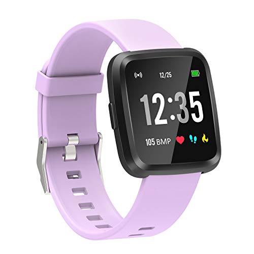 YoYoFit Fitness Armband Tracker Uhr, Smartwatch mit Pulsmesser Blutsauerstoff GPS, mit Schrittzähler Stoppuhr, Voller Touchscreen Schrittzähler Musik Wetter Benachrichtigung für Herren Damen