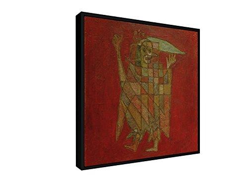 sche Figur - 1927 - 75x75 cm - Leinwandbild mit Schattenfugenrahmen - Wand-Bild - Kunst, Gemälde, Foto, Bild auf Leinwand mit Rahmen - Alte Meister / Museum (Männliche Harlekin Kostüme)