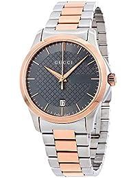 Gucci para hombre G-Timeless ya126446 cuarzo dial de banda de dos tonos  plata oro 34b010c1dc7