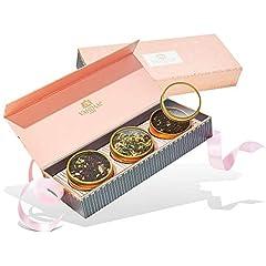 Idea Regalo - VAHDAM, Set Regalo per tè assortiti - BLUSH - 3 tè in una confezione regalo per campionatore di tè | Ingredienti naturali al 100% - Perfetto regalo di compleanno per la mamma | Regali per le donne