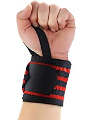 MPTECK @ Muñequeras Adjustable Muñeca apoyo 2PCs Entrenamiento Protector de Correa con cierre de para Musculación Gimnasio Peso Levantamiento Elevación Fitness