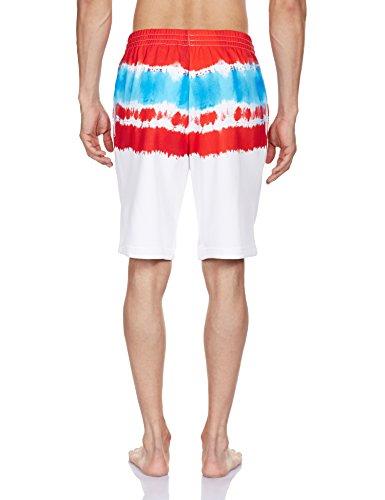 adidas Herren Shorts 3 Foil Tie-Dye White/Red
