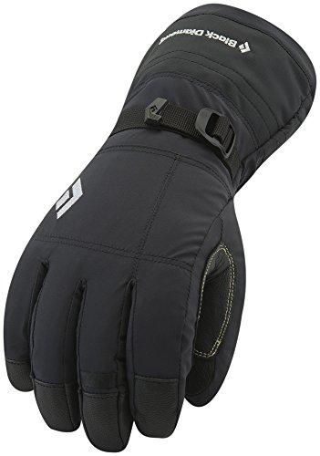 Black Diamond Soloist Handschuhe mit herausnehmbarem Innenhandschuh / Wasserdichter Winterhandschuh mit Ziegenleder Handfläche für Outdoor-Aktivitäten bei Kälte / Unisex, Black, Größe: L -