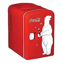 Coca-Cola KWC4 Kühlschrank, Elektrisch, Unisex, für Erwachsene, Rot