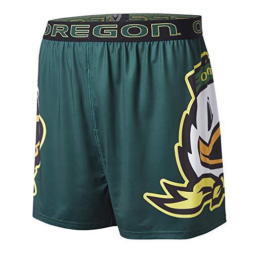 FANDEMICS Universität von Oregon Ducks Boxer, Boxer Slip Kompression Shorts, Herren, Boxers - Large Logo, Medium (32-34) - Kompressions Slip