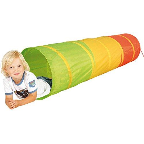 Spieltunnel Krabbeltunnel Krabbeltonne Kriechtunnel Tunnel Kinderzelt in 4 verschiedenen Ausführungen (Bunter Spieltunnel)