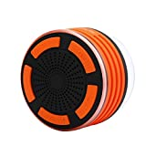 Kingko® Bluetooth Duschlautsprecher Wasserdichter tragbarer drahtloser Lautsprecher mit FM Radio (Orange)