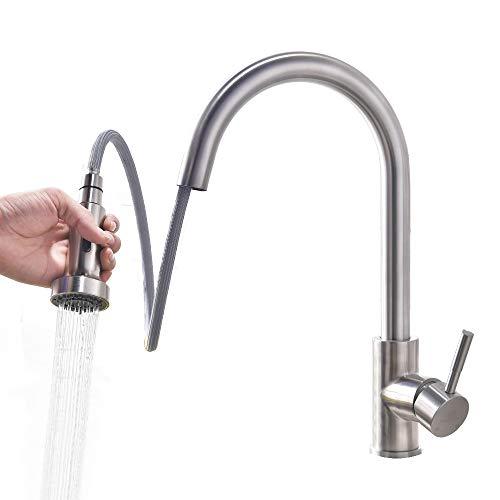 Homelody Wasserhahn Küche ausziehbar Küchenarmatur mit Brause Spültischarmatur Mischbatterie Küchenspüle Spültischbatterie Einhebelmischer