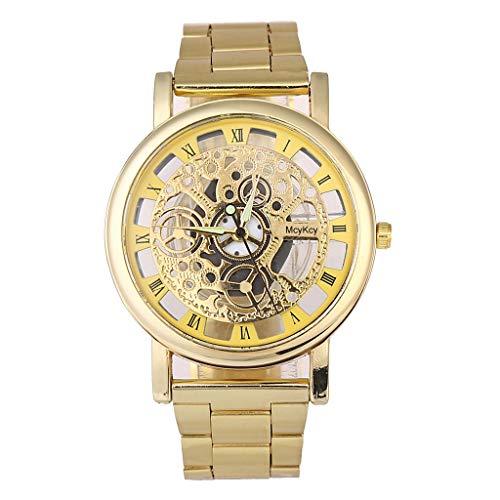 776e3f8ff51c Relojes de Lujo Reloj de Cuarzo Reloj de Acero Inoxidable con Brazalete  Informal Relojes Hombre Deportivos Watches Digitales Mujer de Inteligentes  niños