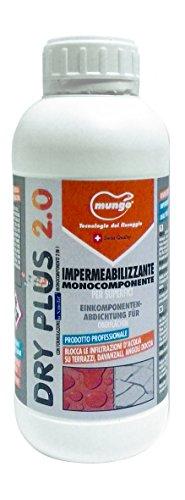 Mungo 1715023 Dry Plus 2.0 con Formulazione M-Nanotef Monocomponente 2 in 0, Trasparente, 1 lt, Set di 6 Pezzi