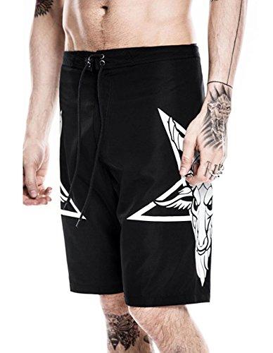 Killstar Herren Board Shorts - Killin' It Baphomet Pentagramm XS