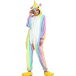 Kenmont Unicornio Juguetes y Juegos Animal Ropa de dormir Cosplay Disfraces Pijamas para Adulto Niños (X-Large, Rainbow Unicornio)