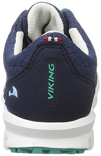 Viking Unisex-Kinder Maverick Gtx Outdoor Fitnessschuhe Blau (Navy/Green)