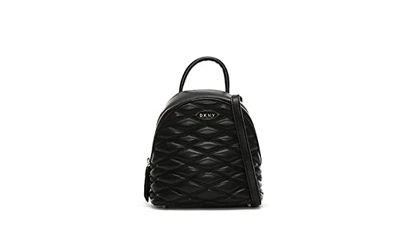 01ba27a29c DKNY Mini Quilted Black Leather Backpack  Amazon.co.uk  Clothing