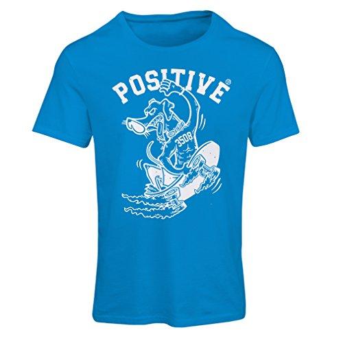 Frauen T-Shirt Positiv - Skateboard-Kleidung, für Skater, lustige Skateboarding, coole Straße Geschenk (Small Blau Mehrfarben) Diamant-skateboarding