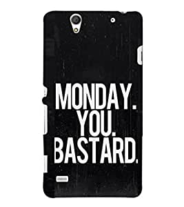 EPICCASE Monday! Mobile Back Case Cover For Sony Xperia C4 (Designer Case)