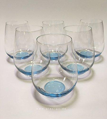 Design Trinkglas, O-Glas, Weinglas, Wasserglas, 6er Set Gläser für Rotwein, Weißwein, Wasser,...