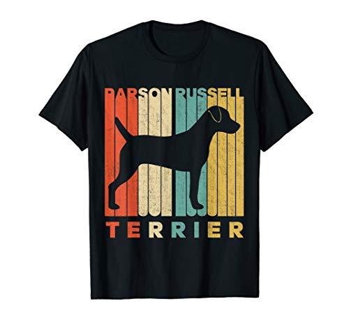Vintage Retro Parson Russell Terrier Silhouette T-Shirt - Terrier-damen T-shirt