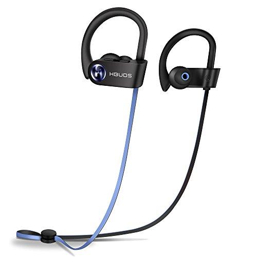 Foto de Auriculares Bluetooth, HBUDS H1SE Bluetooth 4.1 Auriculares Deportivos Inalámbricos, IPX7 Impermeable Estéreo In-Ear Auriculares con Micrófono, 8-9 Hrs y Cancelación de Ruido (Comfy & Fast Pairing)