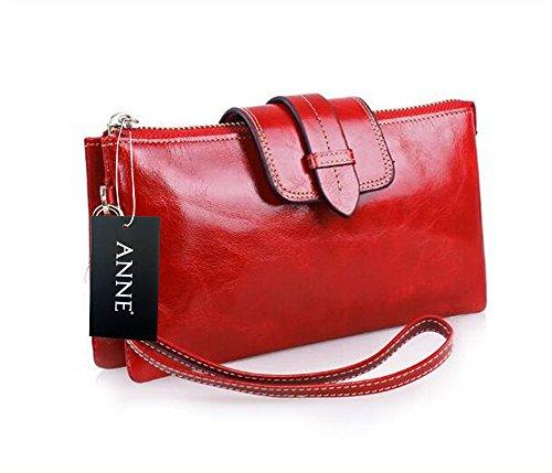 Anne - Borsa a tracolla donna Dark Red