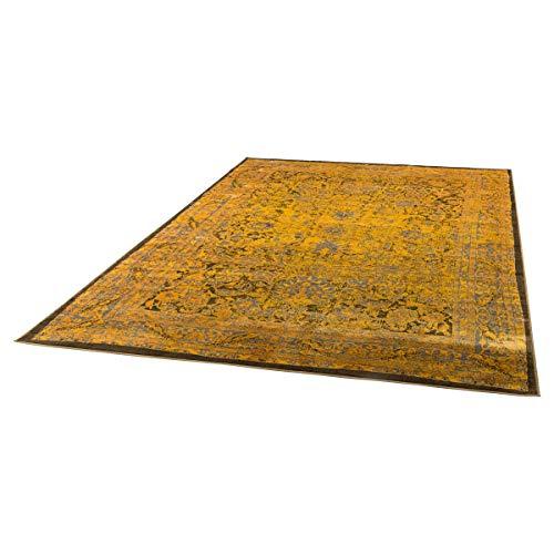 Antik-gold-teppich (Miavilla Teppich Antika - Velours - Vintage Look - Gold - 170 x 240 cm)