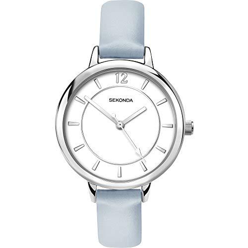 Edizioni Sekonda quadrante bianco cinturino azzurro orologio da donna 2505