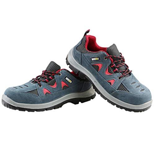 Djpcvb Scarpe da Lavoro Calzature industriali Scarpe Antinfortunistiche da Uomo Scarpe Anti-Perforazione Anti-graffio da Uomo Scarpe da Lavoro Traspiranti in Acciaio (Size : 43)