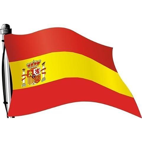 Adesivo Bandiera 30x 20cm Spagna wehend