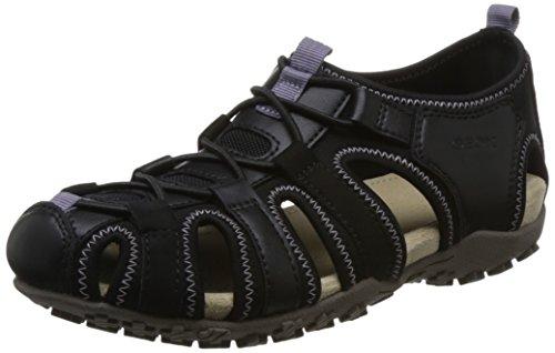 Geox D7125U 05415 C9999, Sandali Donna Nero Black Black