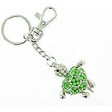 Verde de plata llavero de tortuga/bolso de mano para pulsera