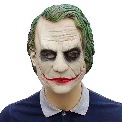 YLJYJ Latex Joker Maske, Clown Kostüm Halloween Masken Erwachsene Cosplay Film Vollen Kopf Partei Liefert