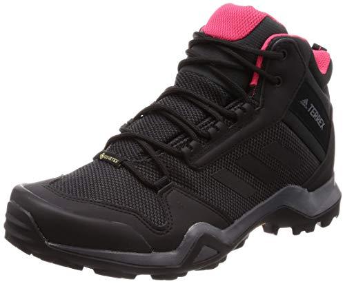 adidas Damen Terrex AX3 MID GTX W Trekking- & Wanderstiefel Grau (Carbon/Core Black/Active Pink 0) 39 1/3 EU