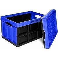 Clever cajas Really Useful cajas, azul, 46 litros, cajas de almacenaje plegable, Really Useful cajas para almacenaje con capacidad de peso de 40 kg a massive! Caja de almacenaje plegable, de modo que se puede apilables Cajas de plástico para almacenamiento. Ideal para guardar juguetes, zapatero y mucho más