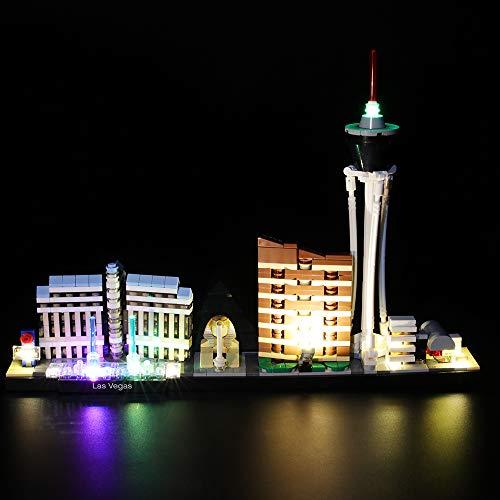LIGHTAILING Conjunto de Luces (Architecture Las Vegas) Modelo de Construcción de Bloques - Kit de luz LED Compatible con Lego 21047 (NO Incluido en el Modelo)