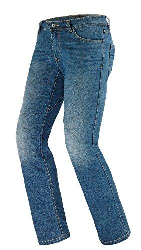 Spidi - Pantaloni da Moto J-Flex Denim Jeans, Blu Usato Medio, 38