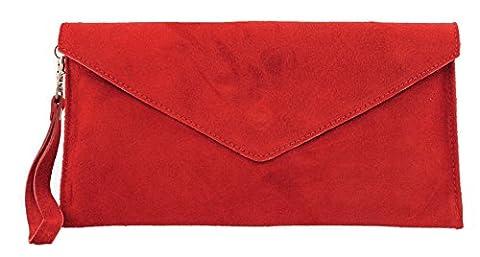 Suedette Envelope Clutch / Shoulder Bag, Stunning Colours
