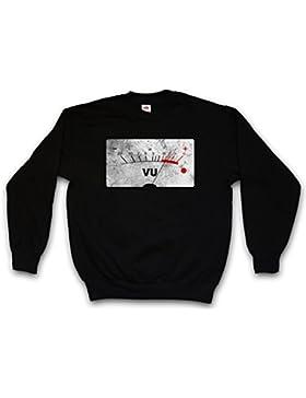 Urban Backwoods VU Volume Units Meter II Sweatshirt – Velvet Decibel Music Bass Retro Radio Cassette Tape Record...