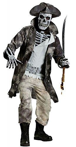 Herren Kostüm Ghost Pirate Gr. L-XL Halloween Totenkopf-Maske böse Horror (Pirate Kostüme Halloween)