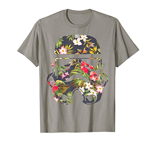 Star Wars Tropical Stormtrooper Floral Print T-Shirt C2