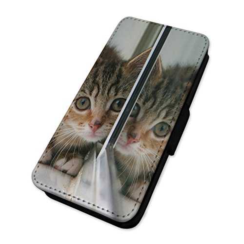 Kitten riflesso – Beautiful Kitten Mirror – Flip cover in pelle cover Apple Iphone 7