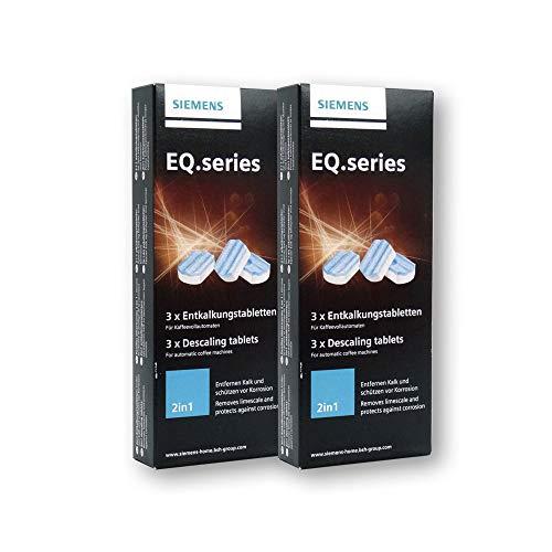 SIEMENS TZ80002 2 x 3 Stück Entkalkungstabletten für alle EQ + surpresso Kaffeevollautomaten