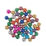 Sharplace Set di 90 Biglie per Biglie con Sfere di Vetro per Gioco di Dama Cinese Multicolore