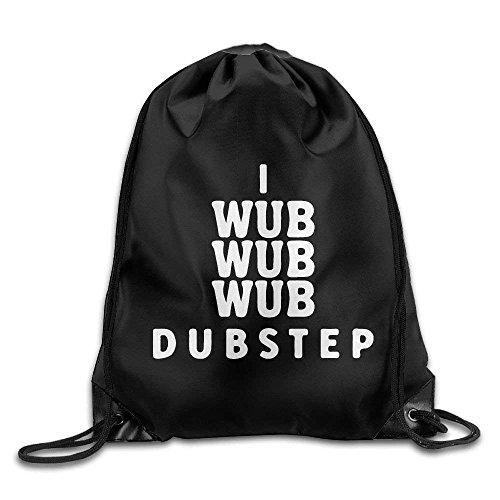 b Wub Wub Dubstep Print Drawstring Backpack Rucksack Shoulder Bags Gym Bag Sport Bag Lightweight Unique 16.9x14.2 ()