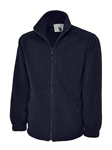 Cadet Kragen Jacke (Monogram Damen Fleecejacke, XS bis XXXXL, ideal für Sport, Arbeit und Freizeit Gr. XL, navy)