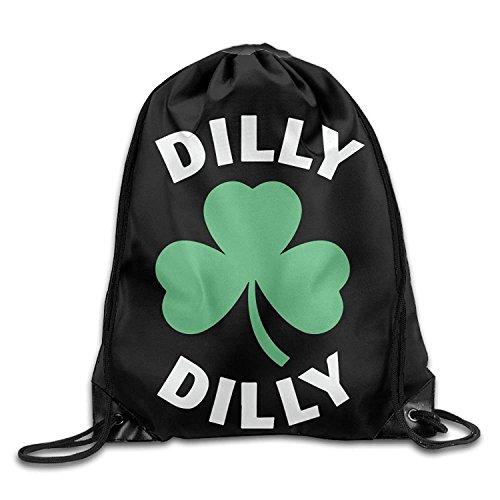 n Saint Patricks Day Kordelzug Rucksack Tasche Beam Mund Sport Rucksack Tasche Schultertaschen für Männer/Frauen (Alles Über Saint Patrick)