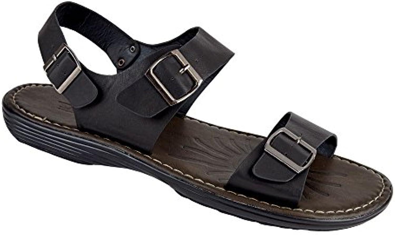 D555   Herren Sandalen schwarz schwarz
