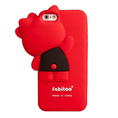 & 5s Apple iPhone 5 Coque en Silicone Motif Hello Fabitoo protection d'écran (Rouge)