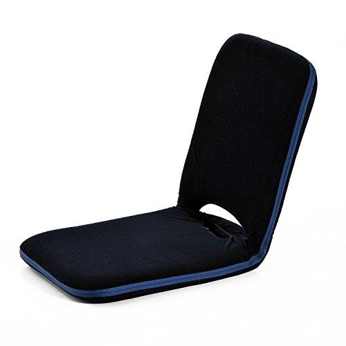 Homcom® Sitzkissen Sitzsack Bodenkissen Stadionkissen Boden Sessel mit Lehne klappbar (Modell1/ Dunkelblau)