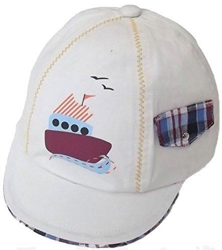 Pesci Baby bébés garçons beige bateau coton chapeau de soleil Chapeau de  soleil 6- 6e30859fe84