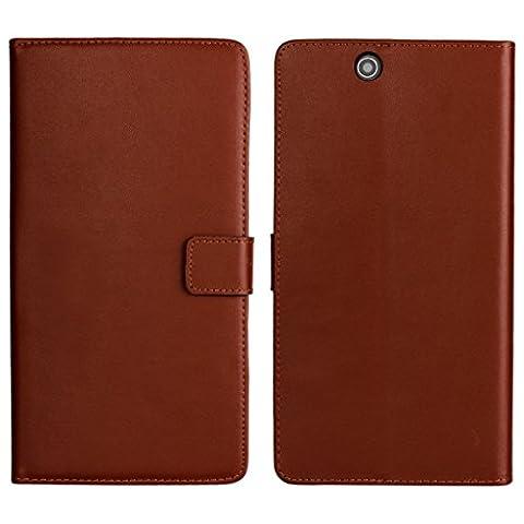 UKDANDANWEI Sony Xperia Z Ultra Etui - Coque en Pochette Portefeuille de Protection Case Cas Cuir Pour Sony Xperia Z Ultra Brun